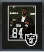 Antonio Brown 2019 Raiders Press Conference -11x14 Team Logo Matted/Fram... - $43.55
