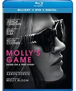 Molly's Game [Blu-ray+DVD+Digital, 2018] - $9.95