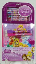 Disney Princess Stickers Stencil Draw Dry Erase Notepad Set Travel Book 3+ - $11.99