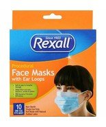 Rexall Procedural Flu Face Mask 99% Effective Box of 10 - Coronavirus Pr... - $19.79