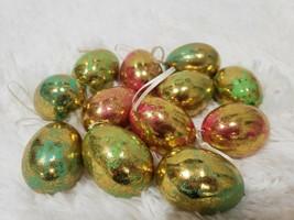"""Easter Spring Pastel Gold Foil Egg Ornaments Tree Decor 2.25"""" Set of 12 - $17.99"""