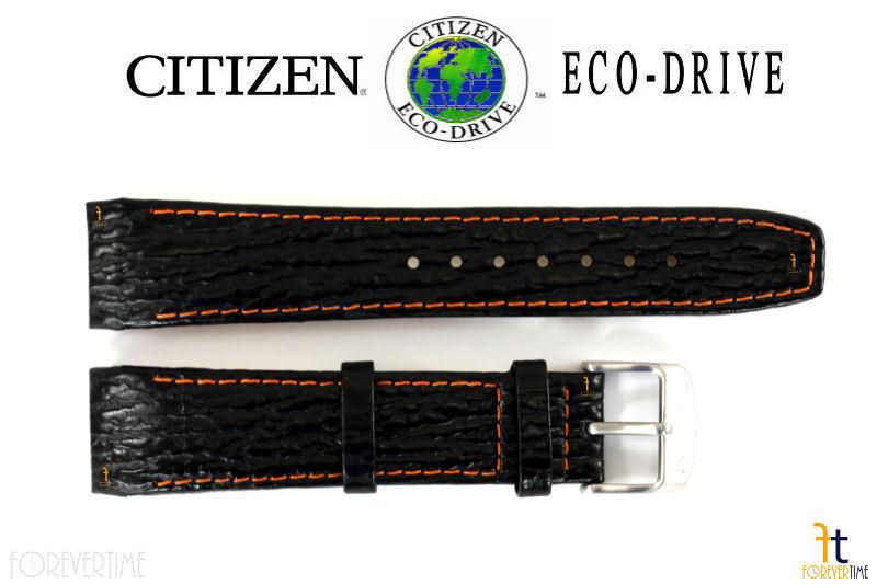 Citizen Eco-Drive E812M-S033870 21mm Cuir Noir Bracelet de Montre E820M-S061806 - $62.38