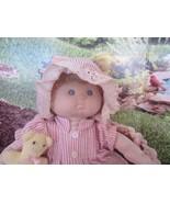 Vintage Baby Tender Doll Russ Stuffed Toy Blue Eyes Curly Blonde Hair Girl  - $17.33