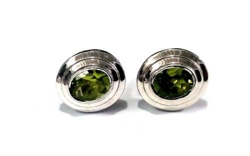 925 Sterling Silver Natural Peridot Gemstone Artistic Design Handcrafted Men's C image 2