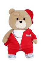 Izen Creation Hippop Stuffed Animal Teddy Bear Plush Toy 35cm 13.7 inches (Red) image 5