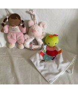 Carters Child of Mine My First Doll AA Ethnic Rattle Plush Taggies Lovey... - $25.73
