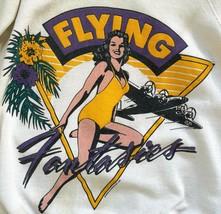 Vintage Sweatshirt FLYING FANTASIES Unisex Large 1987 Primo 50/50 White ... - $74.25