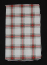 2 Ralph Lauren Cream Red Greenish Grey Plaid King Pillowcases NIP HTF Color - $39.99