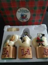 Vintage The Disney Story Mickey's Winter Wonderland Holiday Blocks Fa La... - $34.60