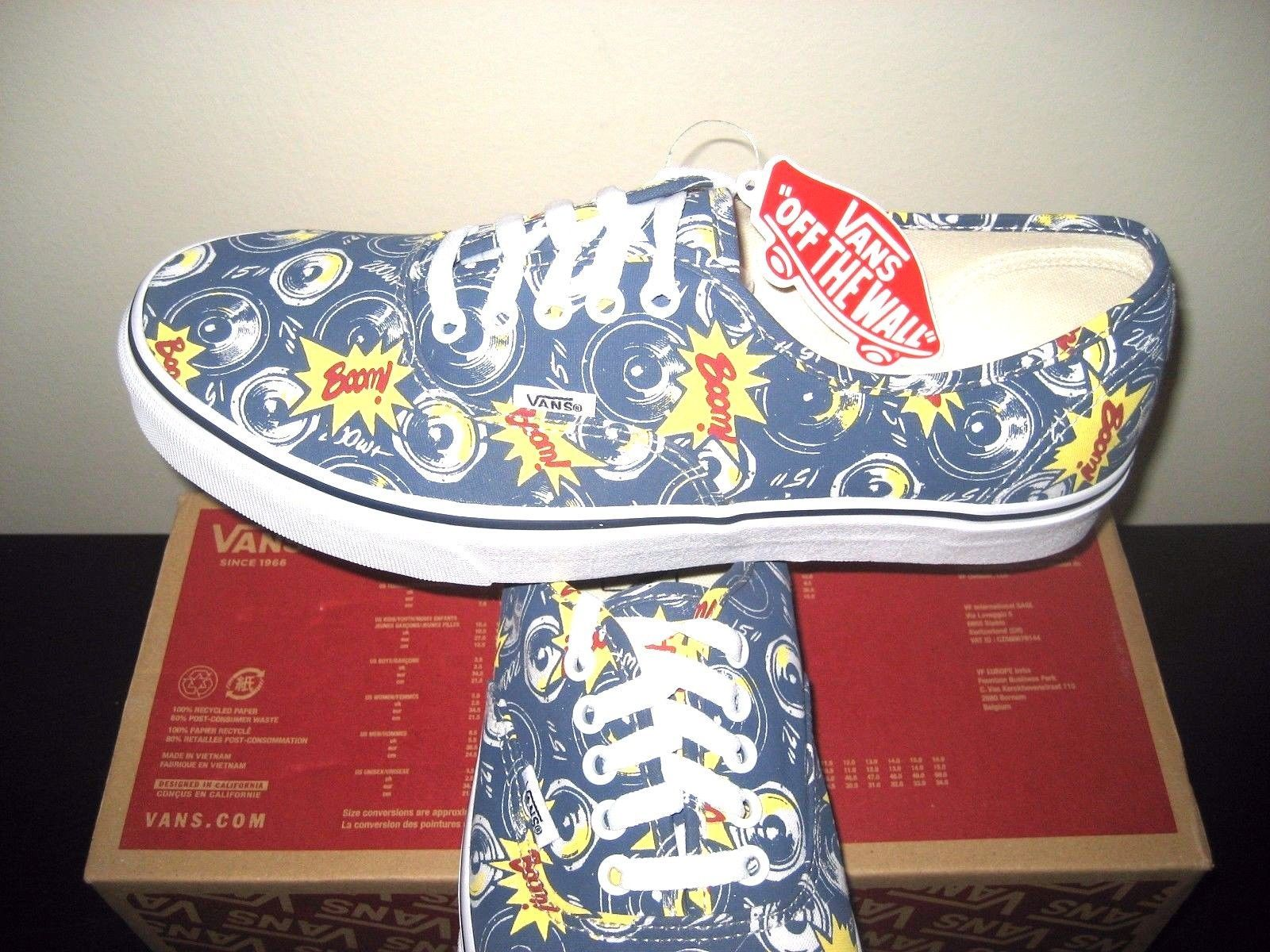 da1696b0508590 S l1600. S l1600. Vans Authentic Mens Freshness Boom City Blue True White  Canvas shoes Size ...