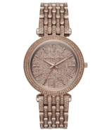 BRAND NEW MICHAEL KORS DARCI COPACINO MK3806 BROWN PAVE BRACELET WOMEN'S... - £174.13 GBP