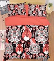 3D Tiger Fox 217 Bed Pillowcases Quilt Duvet Cover Set Single Queen King Size AU - $90.04+