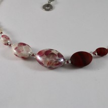 ANTICA MURRINA VENEZIA NECKLACE WITH WHITE AND RED MURANO GLASS CO925A11 image 2