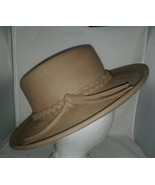 Tan Woolrich Hat Authentic Vintage Braided Hatband 21 1/2 Outdoor Company - $24.99