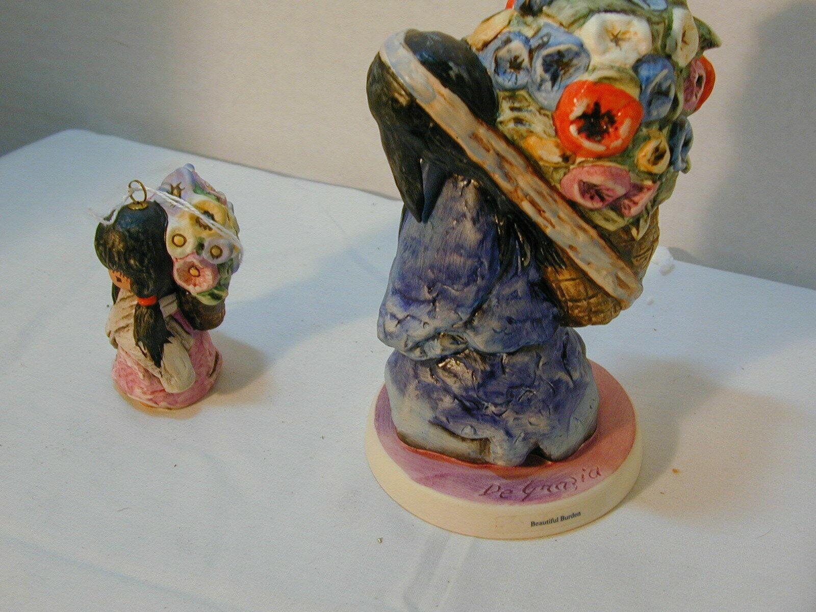 Goebel set of 2 girl figures carrying flowers