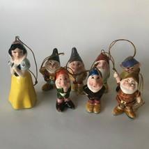 Disney Schmid Ornament Figurine 302-001 1987 Snow White 7 Dwarves Japan - $95.00