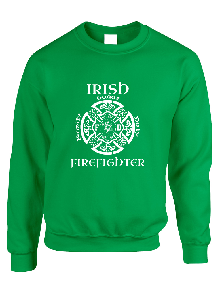 Primary image for Adult Sweatshirt Irish Firefighter St Patrick's Top Irish Party