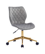Duhome Office Task Chair Velvet Swivel Chair with Gold Base Mid Back - $111.59