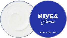 6 Can of 30 mL/ 1 oz NIVEA CREAM Skin Hand CREME moisturizer Metal Tin Total 6oz image 2