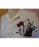 Grand Slam Womens Golf Shirt White XL Button Front Long Sleeve Blouse To... - $21.99