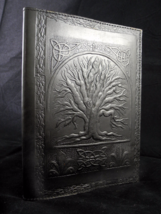 A5 Tree of Life Handmade Pagan Wicca Leather Journal Book of Shadows, Re... - $31.00