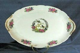 """CH Field Haviland Limoges Bluebirds Basketweave Oval Platter 15 1/4"""" - $38.80"""