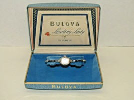 Vintage 1963 Bulova Leading Lady 21 Jewels 10K Rolled White Gold Plate W... - $148.50