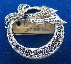 Art Deco Gold Filigree Brooch (#J1645) - $295.00