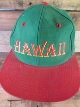 HAWAII Rainbows Green Red Size 7 1/8 Fitted Adult Hat Cap - $14.25