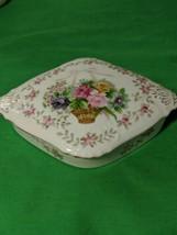 VINTAGE BRISTOL GARDEN L&M, TRINKET BOX floral design PORCELAIN GILT - $19.70