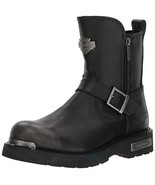 Harley-Davidson Men's Startex Black Leather Motorcycle Boots Riding Shoe... - $114.99