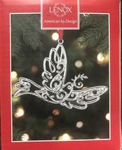 Lenox Sparkle & Scroll Silverplated MULTI Crystal Dove Christmas Ornamen... - $13.09