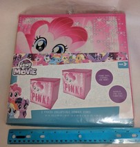 """My Little Pony Collapsible Storage Cube w/ Handle Set of 2 10"""" NEW Pinki... - $25.00"""