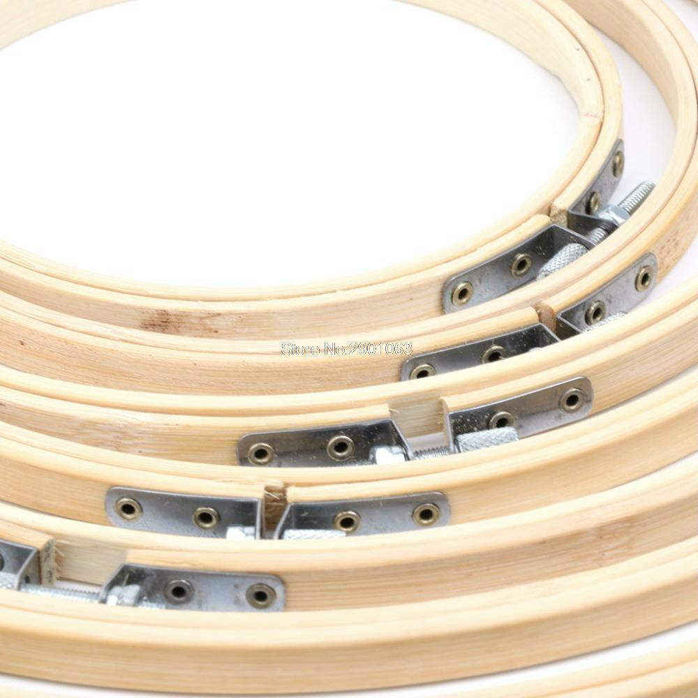 Bamboo Wooden Craft Tools Cross Stitch Machine Embroidery Hoop Ring Sewing Diy