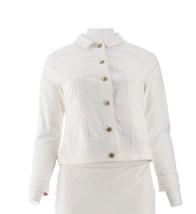 Isaac Mizrahi TRUE DENIM Colored Jean Jacket Bright White 14 NEW A303210 - $37.60