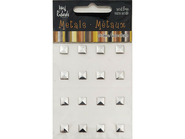 Mark Richards Metal Stickers, Square, Silver #3825