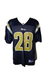 Marshall Faulk St Louis Rams Jersey Blue Reebok Mens Medium 2000s NFL LA - $34.20