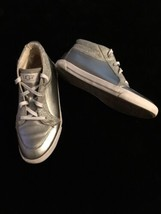 Ugg Australia Women's Shoes Aubry Silver High Top Sneakers W/Sparkles Size 5 - $35.49