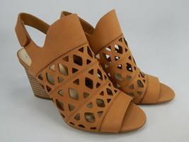 Vince Camuto Deverly Sz US 9 M EU 40 Damen Ausschnitt Leder Blockabsatz Sandalen - $45.73