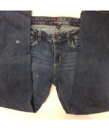 Tommy Hillfiger Hope Boot Womens 8R Blue Jeans Distressed P - $19.79
