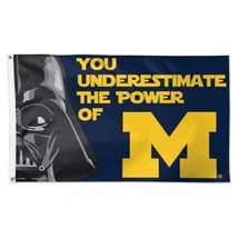 University of Michigan/ Star Wars Deluxe Flag 3x5' NEW Officially Licensed sport - $20.54