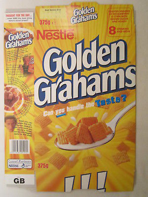 Primary image for Empty Cereal Box GOLDEN GRAHAMS 1998 NESTLE 375g From the UK [G7C12i]