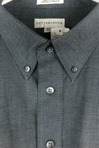 Cutter Buck Shirt Men's 2XT Grey Micro Plaid Long Sleeve Button Front Oxford  image 3