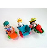 3 McDonald's 1990 Peanuts Down on the Farm Happy Meal Toys - Snoopy- Luc... - $7.99