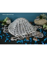 POTTERY BARN LARGE WICKER TURTLE – NWT – COME OUT OF YOUR SHELL FOR SOME... - $149.95