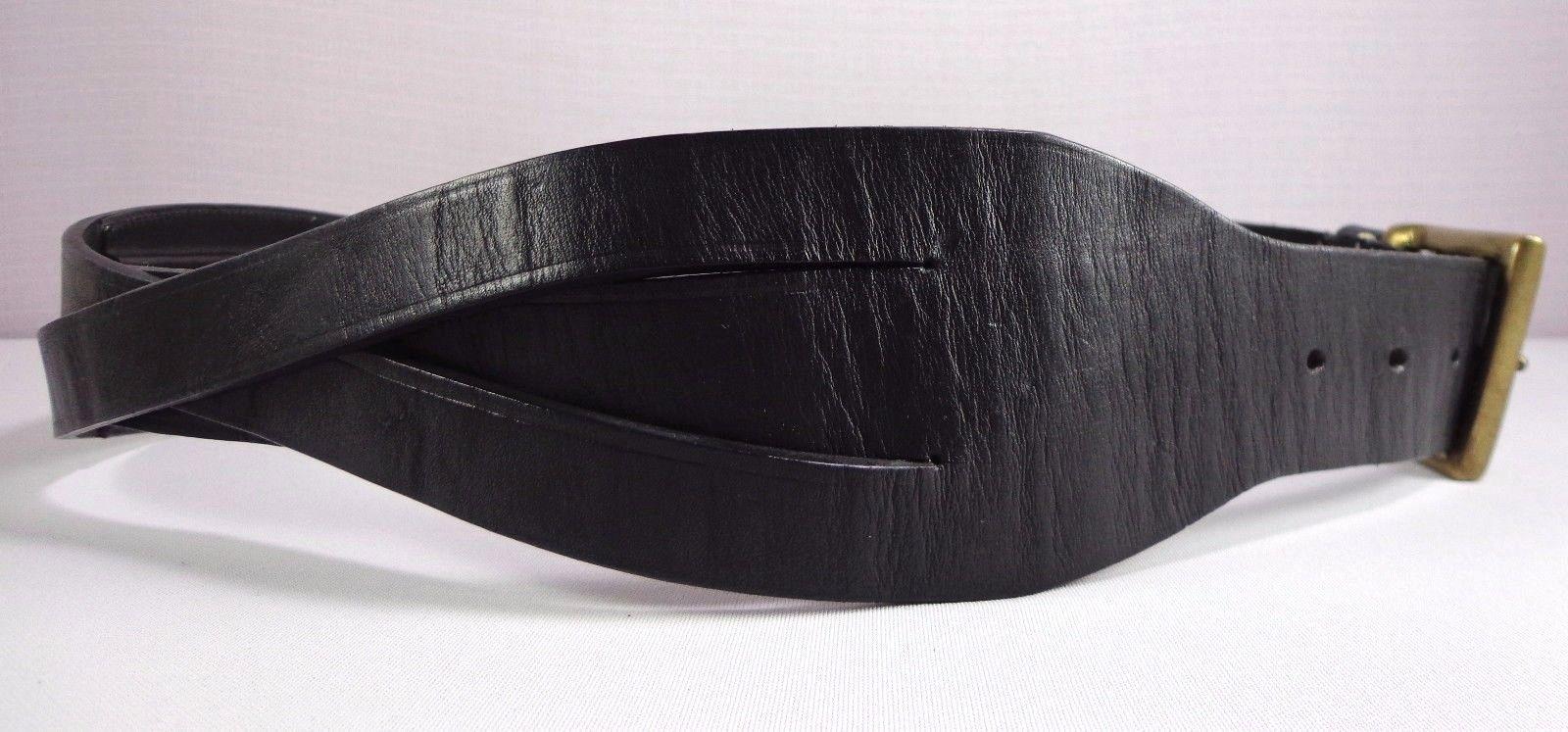 Ralph Lauren Black Leather Wide Belt Womens Size M