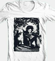 Edward Scissorhands Dog Photo T-shirt retro 90s movie cotton graphic white tee image 1
