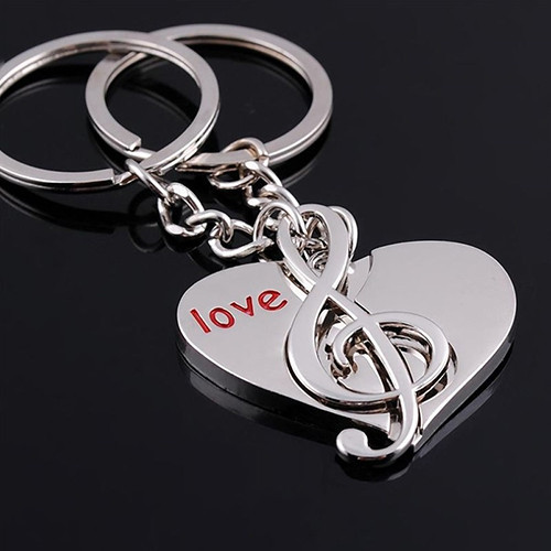 Primary image for Keychain  2 Pcs Lover's Cute Heart Notes Couples