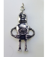 COOL Alien ufo space Robot charm Genuine Authentic sterling silver penda... - $26.71