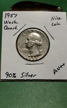 1957 Washington Silver Quarter!!! Better Date!!! Nice Coin!!! 90% Silver!!! - $6.05
